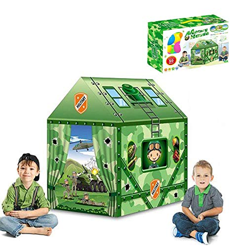 Ydq Kids Play Tent, Military Base Houses Great Tractor Toy, Sun Shelter Playhouse | Den for Indoor Outdoor Garden Gazebo for Children Camping Picnic Travel