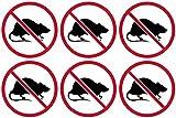 6-2'x2' No Rats Union Decal Pack Labor Vinyl Hard Hat Helmet Sticker Car Bumper Window