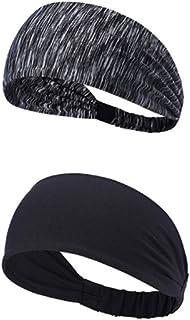 Sports Workout Running Athletic Fitness Gym Yoga Moisture Wicking Crossfit Non Slip Lightweight Headband, Sweatband Trendy...