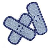 Bügelflicken Pflaster Bügelbilder aus Jeans Flicken zum aufbügeln hellblau dunkelblau Set klein mittel 2 Aufbügler Patches für Kinder und Erwachsene von flickli zum reparieren von...