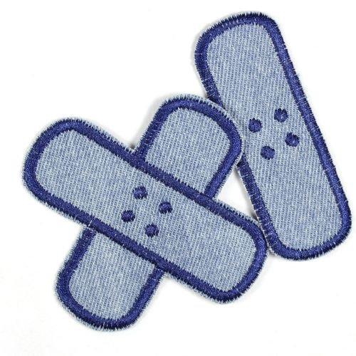 Bügelflicken Pflaster Bügelbilder aus Jeans Flicken zum aufbügeln hellblau dunkelblau Set klein mittel 2 Aufbügler Patches für Kinder und Erwachsene von flickli zum reparieren von Kleidung und Hosen