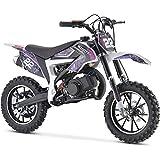 MotoTec 50cc Demon Kids Gas Dirt Bike 2-Stroke Motorcycle Pit Bike Purple