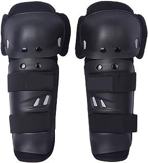 Rodilleras de protección para niños y adultos. Protector de rodilleras flexible transpirable y ajustable. Protector de rodilleras para motocicleta, motocross y bicicletas de montaña. Negro HXG11