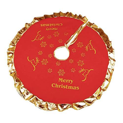 Cosanter 1 X Flocon de Neige Joyeux Noel Jupe de Sapin de Noel