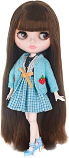 Outfit Winter Dress for Blythe Doll Icy Colorful 1//6 Fashion Green White Red