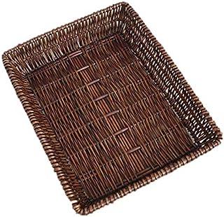 KTYX Paniers Rangement Basket Panier De Rangement en Rotin Panier D'affichage en Osier Panier Tissé Pain Panier en Bambou ...