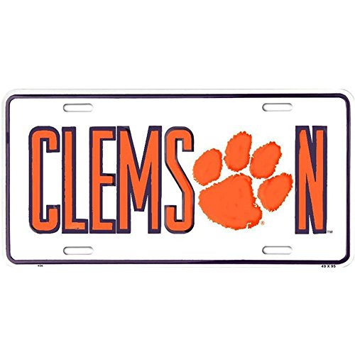 Signs 4 Fun Clemson Tigers, License Plate