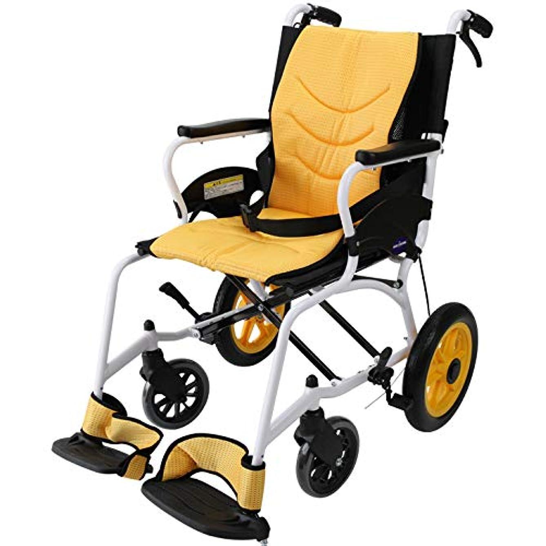 ファンブルかき混ぜる批判的介助用 車椅子 『 TILOL(チロル)』 軽量 12インチ アルミ製 コンパクト ノーパンクタイヤ 折りたたみ 背折れ 1年保証 kadokura/カドクラ F501