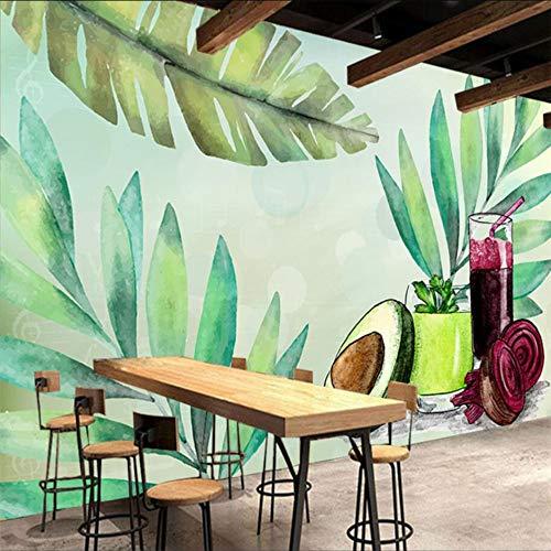 Dalxsh met de hand beschilderd fruit en plantaardige voeding saus thee restaurant gereedschap muur aangepaste grote muurbehang 200x140cm