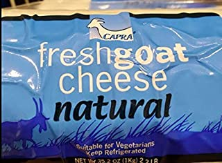 Capra goat cheese plain Natural 2.2lb Suitable for vegetarians