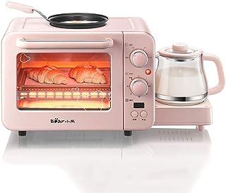 Máquina Eléctrica del Desayuno 3 En 1 Multifunción Tostadora Freír Recipiente para Hornear Mini Horno Y El Pote del Té para La Toma Freír El Huevo Pan Tostado De Café