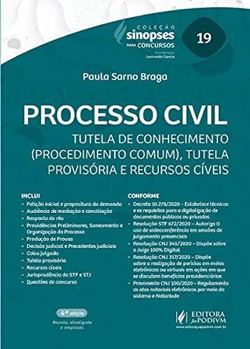 Sinopses Para Concursos - Volume 19 - Processo Civil - 4ªedição (2021)