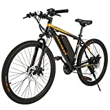ANCHEER Electric Bike Electric Mountain Bike 350W Ebike 26'' Electric Bicycle, Newest 20MPH Adults Ebike with Removable 36V 7.8Ah...