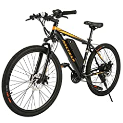 STRONGER 350W MOTOR ---The mountain ebike SUNSHINE is equipped with 350W high speed brushless motor, providing more than enough to power your daily commute, a cruise on the mountain, or a meander along your favorite trail. With speeds up to 20 mph, I...