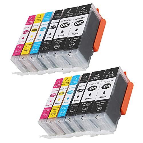 Caidi 12 550XL 551XL - Cartuchos de tinta compatibles con Canon Pixma MX925 iP7200 iP7250 MG5650 MG7550 MG6350 MG6650 MX725 MX920 MG6450 MG5550