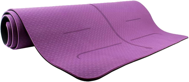 WZLDP Yogamatte Anfngerin weibliche Rutschfeste Fitness Tanzdecke Sportmatte Herren TPE Yogamatte Leichtgewicht, für Mnner und Frauen.