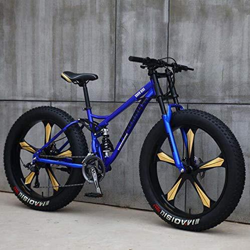 GASLIKE Bicicleta de montaña de 26 Pulgadas para Hombres y Mujeres, Adolescentes y Adultos, Marco de Acero de Alto Carbono, Freno de Disco mecánico, Llantas de aleación de Aluminio