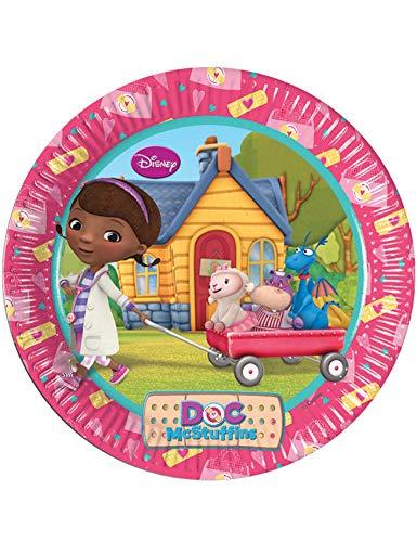 decorazione per torta CIALDA in ostia Dottoressa Peluche personalizzabile forma rotonda 20 cm