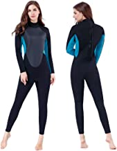 Homruilink Diving Skin Women, 3mm Neoprene Long Sleeve Diving Suits with Back Zipper Keep Warm Full Wetsuit for Surfing Ka...
