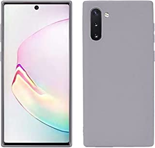 Matte Plastic Flexible Protection Cover, Smooth, Soft TPU Case for Samsung Galaxy Note 10 (Gray)