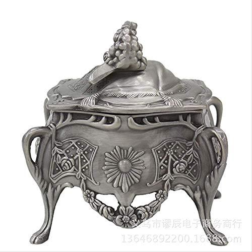 LBYLYH Home Decor Ornament Figurine Gift Oude Metalen Sieraden Doos Thuis Office Opslagruimte Bureau Organizer