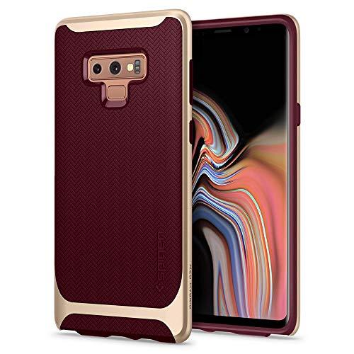 Spigen [Neo Hybrid Samsung Galaxy Note 9 Hülle (599CS24592) Zweiteilige Handyhülle Modische Muster Silikon Schale & PC Rahmen Schutzhülle Hülle (Burg&y)