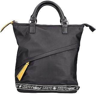 Rieker Damen H1078 Rucksack, schwarz, Normal