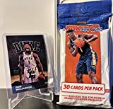 2019-20 Panini Hoops NBA Basketball Fat Pack (30 Cards) - Look for EXCLUSIVE Teal/Orange Explosion of Zion Williamson and Ja Morant! Plus Custom Zion Card!