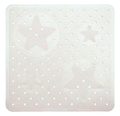 Eliplast Ligne Bain Tapis Douche, Caoutchouc thermoplastique, Blanc, 53 x 53 x 0,5 cm