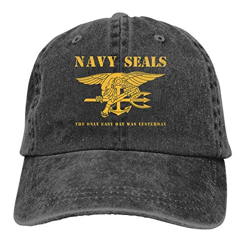Yaxinduobao Gorra Vaquera Navy Seals Stencil Men Women Vintage Adjustable Dad Sun...