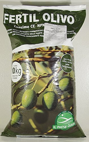 FERTILOLIVO CONCIME SPECIFICO per LA NUTRIZIONE BILANCIATA DELL'OLIVO Confezione da 10 kg