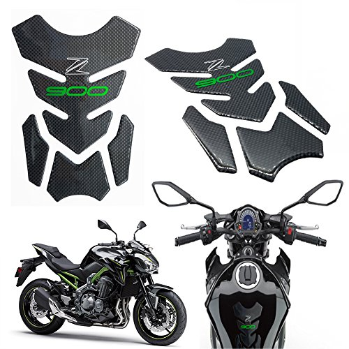 Motorcycle accessories Sticker Real Carbon Fiber Fuel Gas Tank Protector Pad For Kawasaki Z900 2017 UP