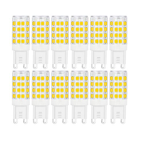 SumVibe G9 LED Bulb 5W, 40W G9 Halogen Bulb Replacement, 420LM, Daylight White 6000K, AC100V-240V, G9 Base Non-Dimmable Light Bulbs, 12-Pack