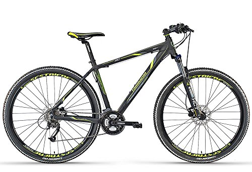 Lombardo bikes - Mountain Bike Sestriere 350 U / 29 NERO/VERDE OPACO 19' - 2016