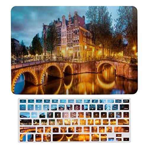 Laptop Case Protective Shell Set Keizershouse Amsterdam Plastic Hard Shell Case & Keyboard Cover Compatible with MacBook New Pro 13 touch (models: A1706、A1989、 A2159)
