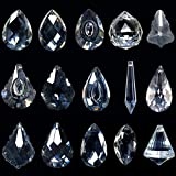 Kristalle zum aufhängen,15er Kristall Prisma aus Glas,Kristall Glas Prisma,Kristalle Als Dekoration,Bunte Kristall Regenbogen,Kristalle zum Aufhängen Kronleuchter,Feng Shui Sonnenfänger Kristall