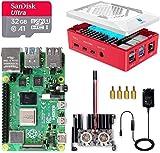 LABISTS Raspberry Pi 4 8GB Kit Incluido Tarjeta SD 32GB Precargada con Raspberry Pi OS, Ventilador, Disipadores de Calor Grande, 2 Micro HDMI, Caja y Lector de Tarjetas