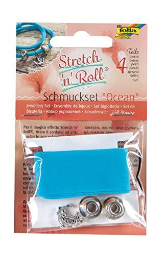 folia 93105 – Bracelet Kit de Bricolage Strech et Roll – Ocean Set, Bleu