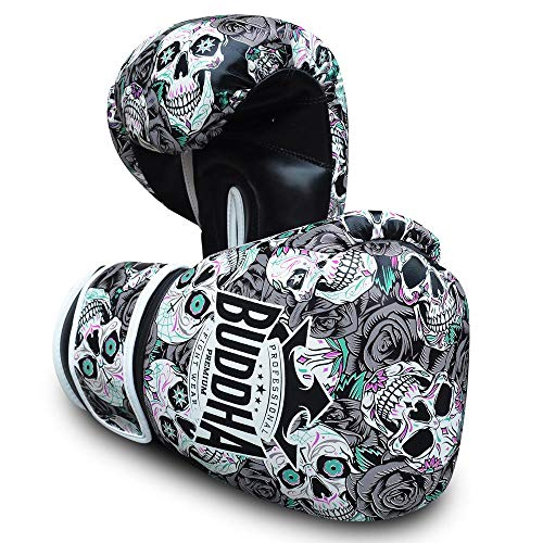 Buddha Fight Wear Guantes de Boxeo Mexican Premium Negros
