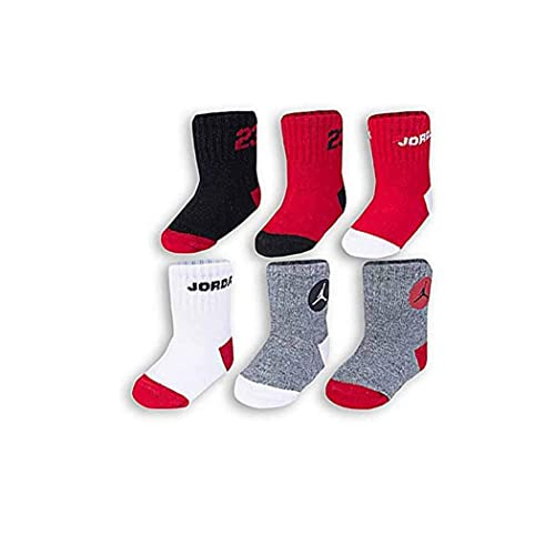 31142312c Nike Boys Air Jordan Infant/Toddler Socks 6 Pair