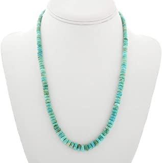 Natural Turquoise Heishi Navajo Necklace With Penn Shell 3157