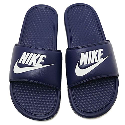 Nike Benassi - Zapatos de playa y piscina para hombre, Azul (Midnight Navy/Windchill)., 10
