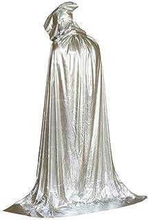 [210cm銀]ハロウィンフード付きのクローククリスマスパーティーコスプレ衣装