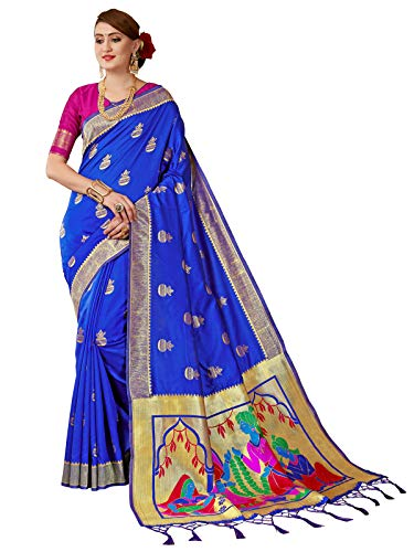 HAOK Sarees para Mujer Banarasi Art Silk || Sari de Boda Indio...