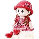 Prevessel Muñeca de trapo de peluche suave muñeca de peluche de juguete de princesa linda muñeca Rag...