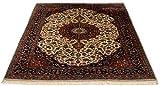Lifetex.eu Teppich Keshan ca. 120 x 175 cm Beige handgeknüpft Schurwolle Klassisch hochwertiger Teppich - 5