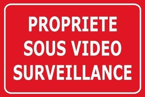 Panneaux de Dissuasion propriéte sous vidéo Surveillance