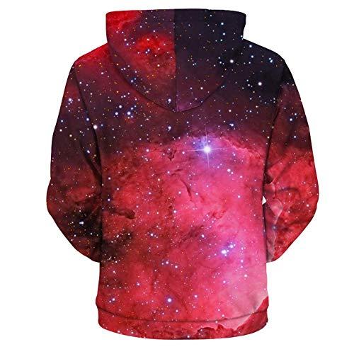 PU-sweatshirts voor dames en herfst 3D sweatshirts met hooded sweatshirts 3D Space Print Galaxy sweatshirts mannen pullover trainingspak M