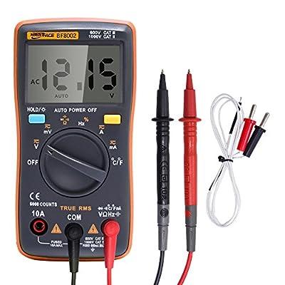 Voltmeter Digital Multimeter Portable Meter 6000 counts Backlight AC/DC Ammeter Ohm Temperature Tester