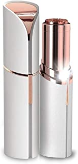 Meya Happy Painless Electric Upper Lip Chin, Eyebrows Hair Remover Tool for Women (Rose Gold)